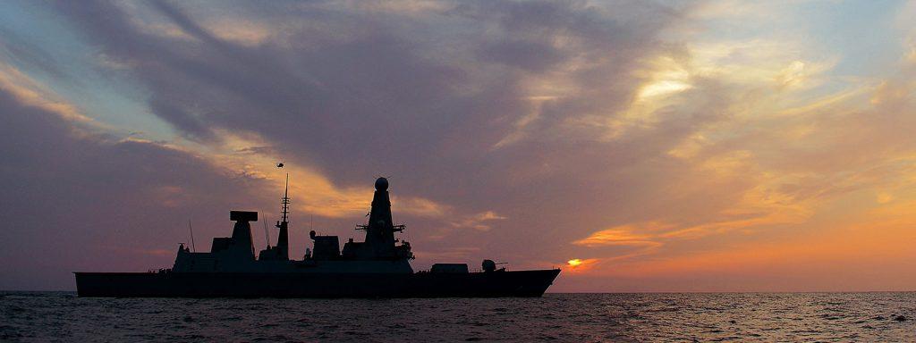 HMS Dragon Silhouette