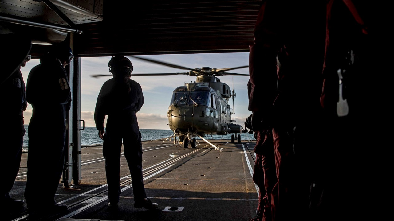 Royal Navy flight deck