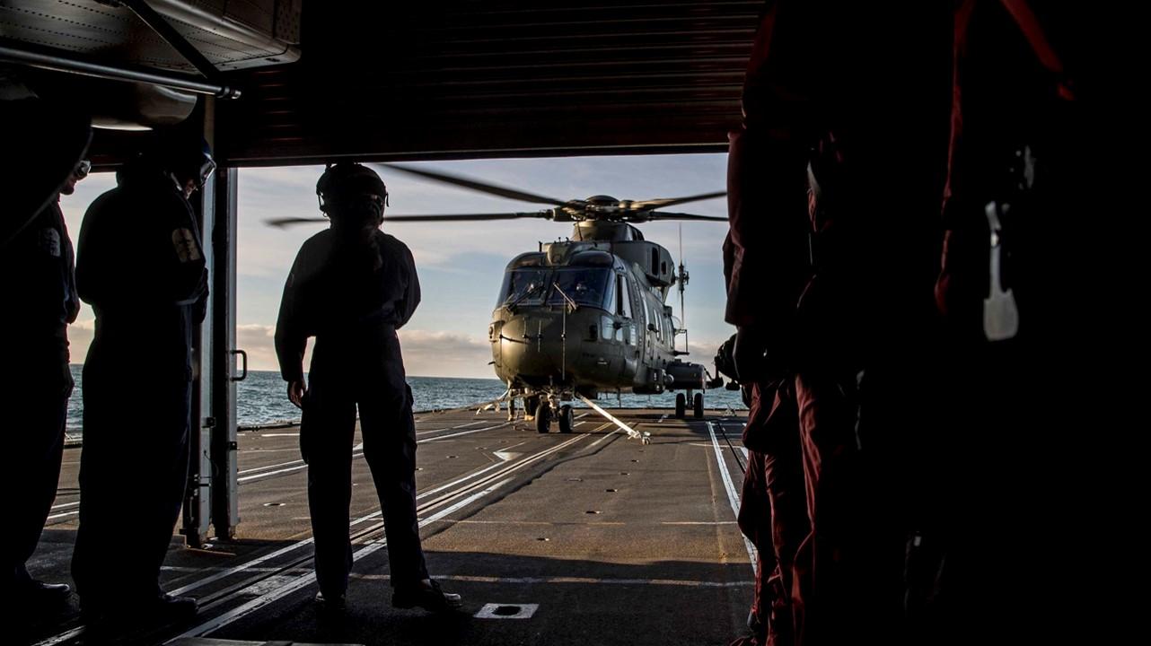 Royal Navy flight deck
