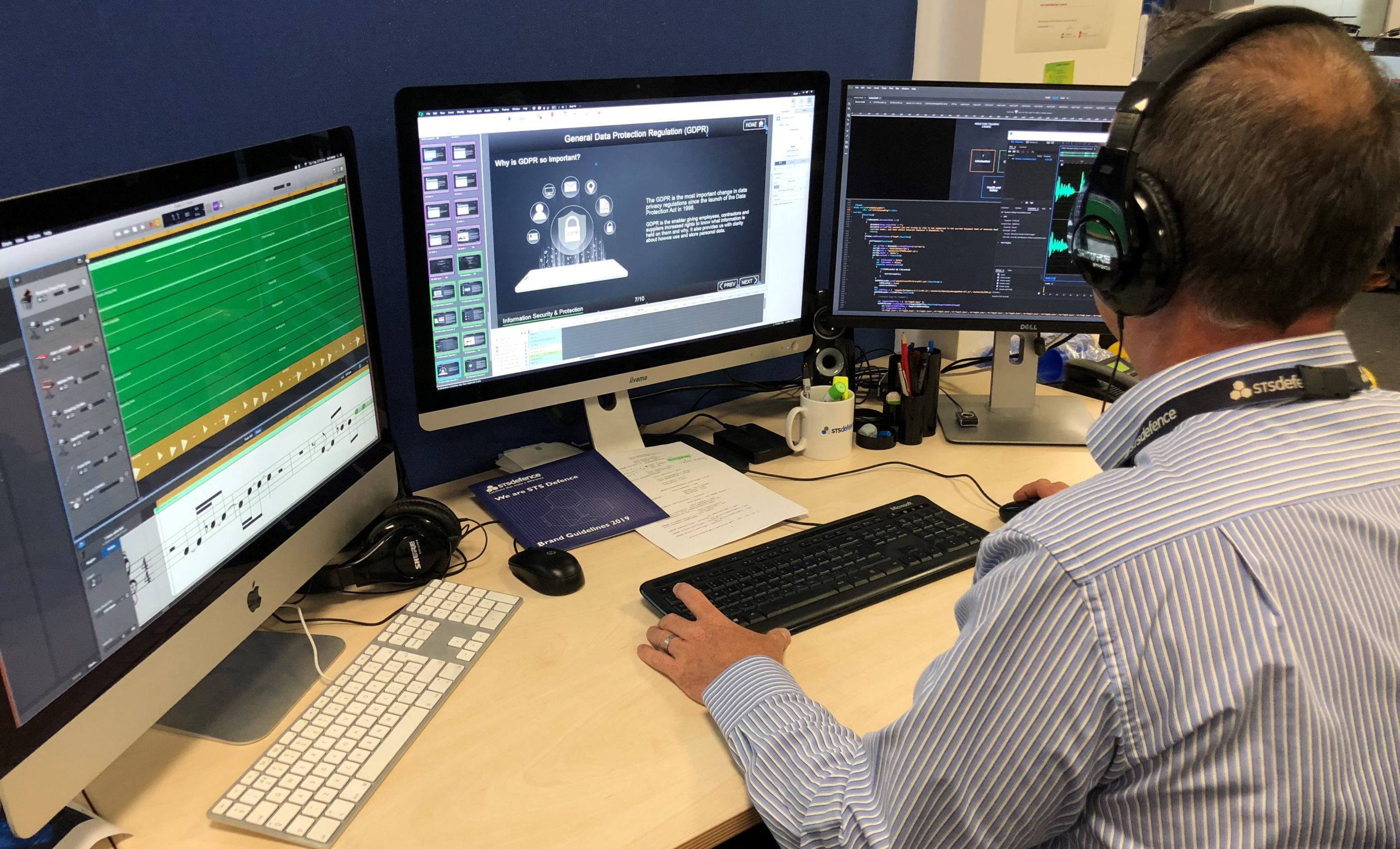 Multimedia designer at work