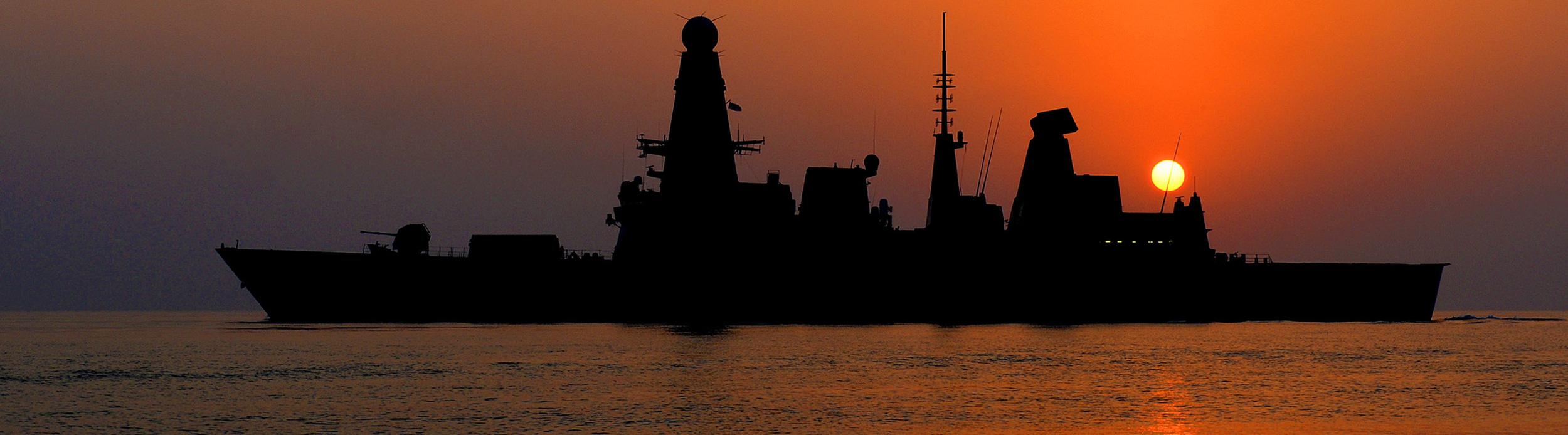 HMS Dragon silhouete