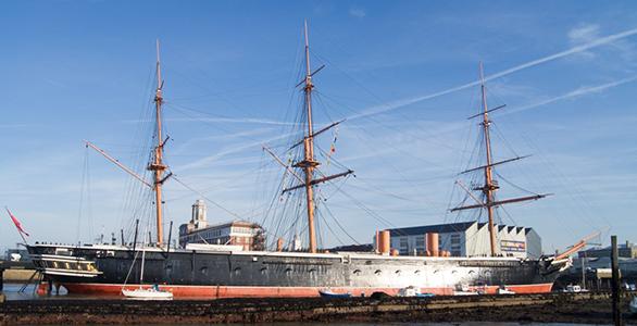 HMS Warrior, Portsmouth Dockyard