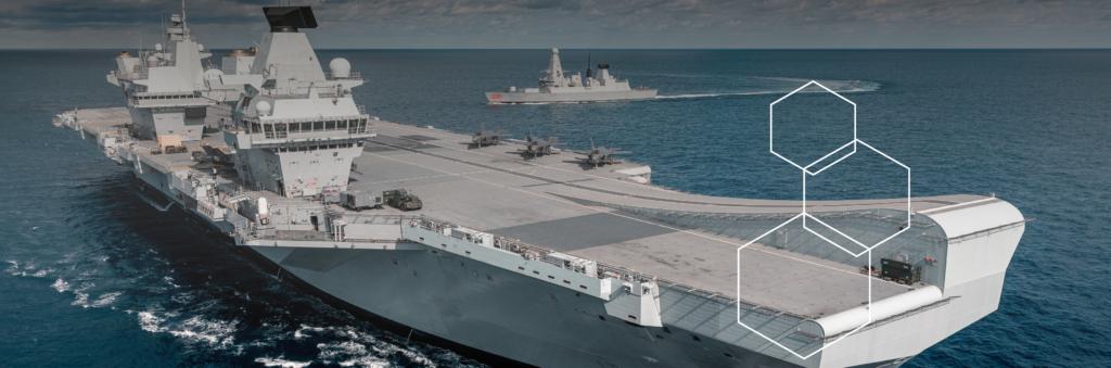 HMS Queen Elizabeth and HMS Dragon